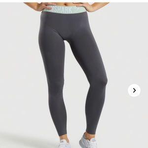 Gymshark Fit Leggings Grey-Light Green